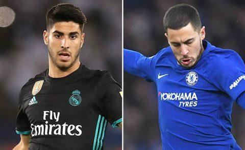 Chelsea cân nhắc đổi Hazard lấy Asensio