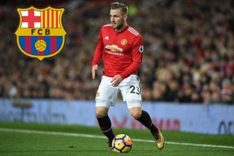 "SỐC: Barcelona muốn ""giải cứu"" Luke Shaw khỏi M.U"