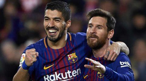 Song sát Messi – Suarez ghi bàn nhiều hơn cả đội nhì bảng Atletico