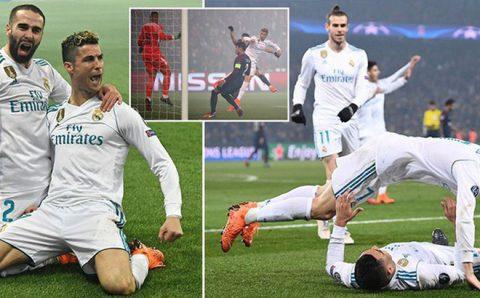 Ronaldo lại ghi bàn, Real nhẹ nhàng vượt ải PSG
