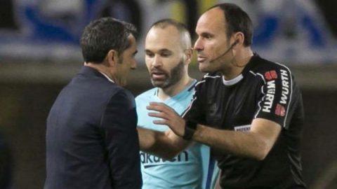 Những tiếng còi méo của trọng tài trận Barca 1-1 Las Palmas