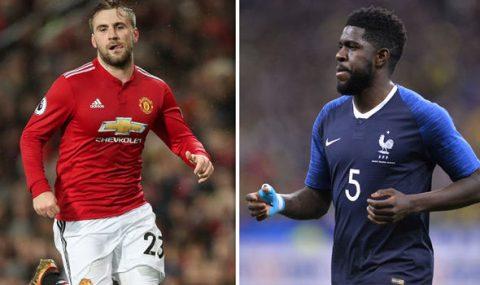 """Lấy Shaw làm """"vật tế thần"""", Man United muốn đổi với Umtiti?"""