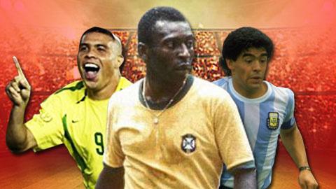 Ronaldo, Pele và Maradona
