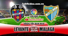 Nhận định Levante vs Malaga, 02h30 ngày 20/4: Tiễn khách xuống hạng