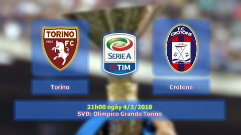 Nhận định Torino vs Crotone, 23h30 ngày 04/04: Xa nhà là niềm đau