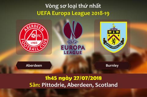Nhận định Aberdeen vs Burnley, 01h45 ngày 27/7: Europa League