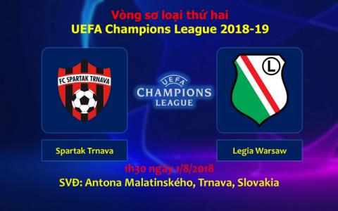 Nhận định Spartak Trnava vs Legia Warsaw, 01h30 ngày 1/8: Champions League