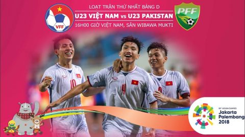 Nhận định U23 Việt Nam vs U23 Pakistan, 16h00 ngày 14/8: ASIAD 2018