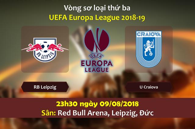 Nhận định RB Leipzig vs U Craiova, 23h30 ngày 9/8: Vòng sơ loại thứ 3 Europa League