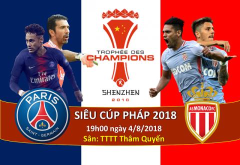 Nhận định PSG vs Monaco, 19h00 ngày 4/8: Siêu cúp Pháp
