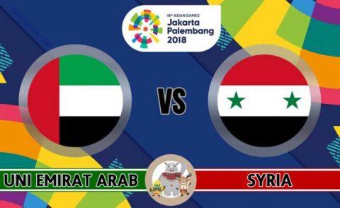 Nhận định U23 UAE vs U23 Syria, 19h00 ngày 14/8: ASIAD 2018