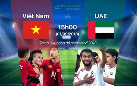 XEM TRỰC TIẾP U23 Việt Nam vs U23 UAE, 15h00 ngày 01/9