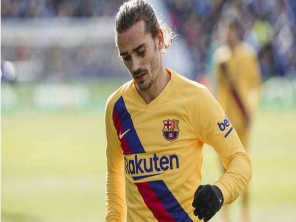 Griezmann thể hiện phong độ nhạt nhòa trong lối chơi của Barca