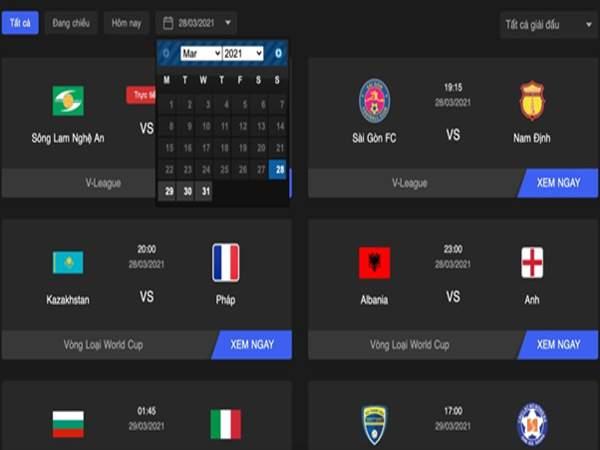 Cách xem bóng đá trực tiếp siêu đơn giản tại Vuasanco.com