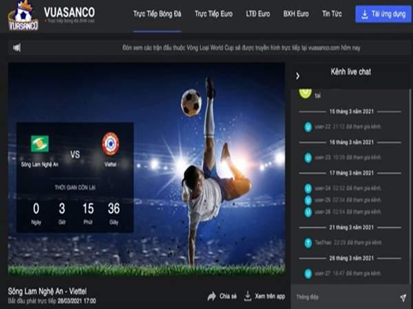 Web xem trực tuyến bóng đá chất lượng cao 24/7